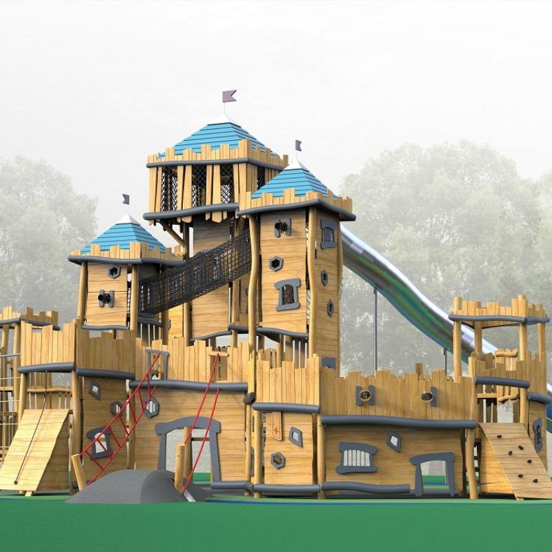 Robinia castles make for playground royalty