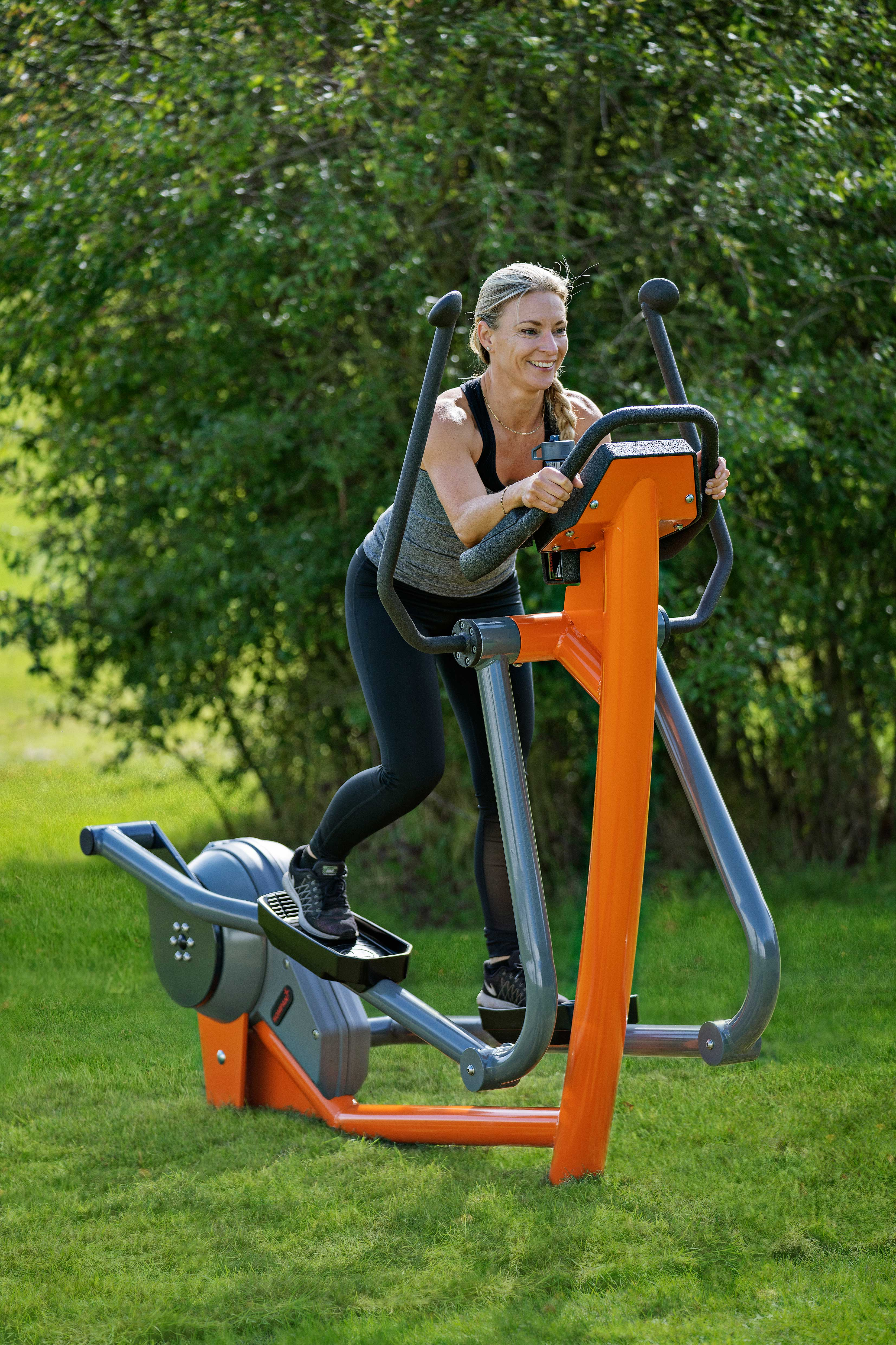 New state-of-the-art Cross Trainer taken outdoors