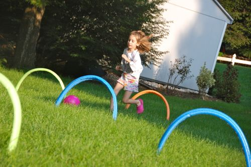 Keeping kids active at home | DIY Outdoor Obstacle Course