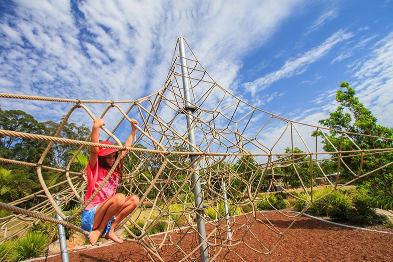 Four types of climbing structures kids love in playground designs